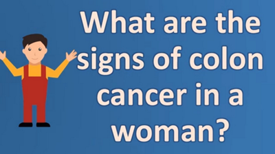 image telling the signs of colon cancer in females